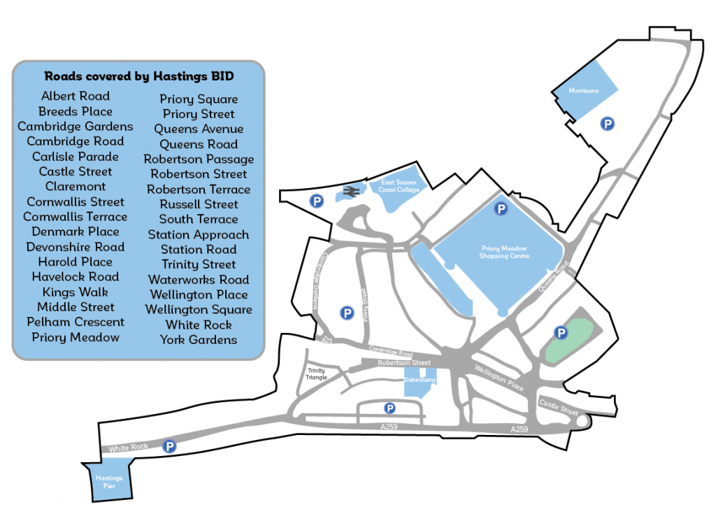 Hastings BID map