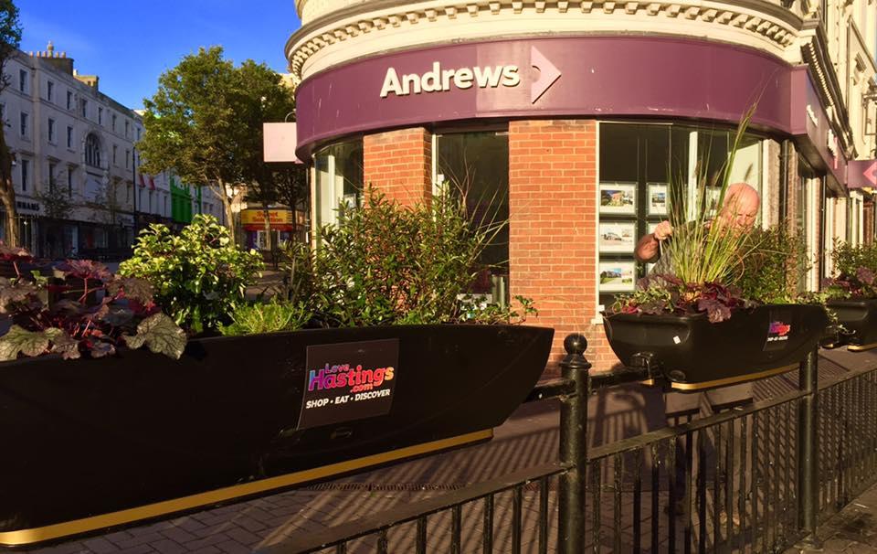 Town centre planters